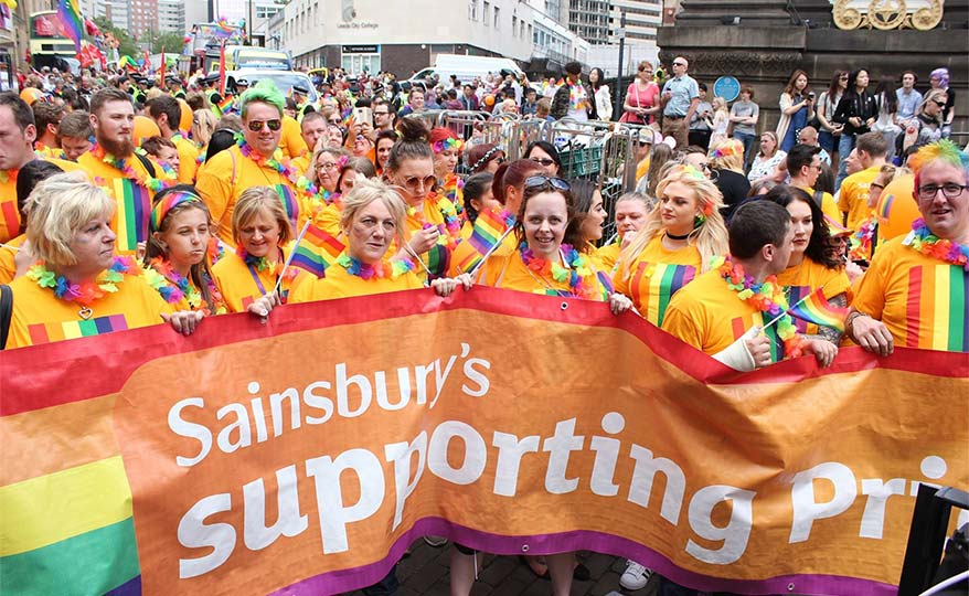 Sainsbury's colleagues at Pride